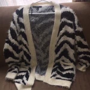 Really soft zebra cardigan with pockets!